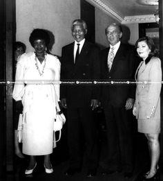 Carlos A. Pérez junto a Nelson Mandela y Winnie Mandela en el año1991. Foto: Archivo Fotográfico/Cadena Capriles