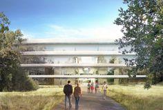 Ingresso dell'Apple Space Campus a #Cupertino, futuro headquarter della multinazionale americana. #Apple
