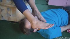 he has to smell #footworship #feet http://c4s.com/female-boot-world