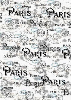 ** free printable paper Paris ** very nice Papel Vintage, Vintage Diy, Vintage Labels, Paris Party, Paris Theme, Paris Decor, Paris Birthday, I Love Paris, Vintage Paris