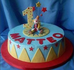 Clown on cake