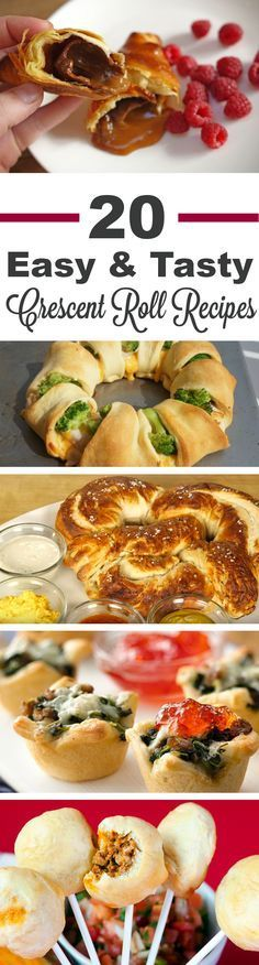 20 Easy Crescent Roll Recipes | We love a recipe that uses crescent rolls because they are so easy to make and great for entertaining a crowd or a hungry family! So we put together a collection of some of our favorites from personal pizzas to chocolate caramel croissants to giant pretzels to sausage and blue cheese cups to mini pot pies! You'd be amazed at what you can do with this ready-made dough! Click to see all the recipes.