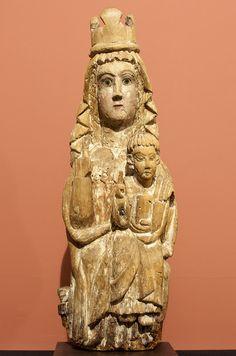 Virgen de la Sopeña (San Andrés del Congosto), XII. Salvada por Gaya Nuño en la Guerra Civil, reencontrada en el Valencia de Don Juan :)