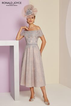 Veni Infantino 991404 Mother of Bride Outfit – Colour Steel & Blossom – Price Buy online today with next day delivery – money-back guarantee. Mother Of The Bride Fashion, Mother Of Bride Outfits, Mother Of Groom Dresses, Mob Dresses, Sexy Dresses, Fashion Dresses, Summer Dresses, Bride Dresses, Floaty Dress