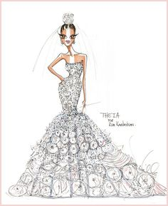 THEIA envisions Kim Kardashian's wedding dress #KimKardashian