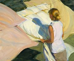 """The Light of Wind,"" Jeffrey T. Larson (American, b. 1962), Oil on canvas, 20 x 24 in., 2005"