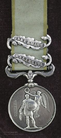 British Crimean War Service Medal with Inkerman and Balaklava Clasps