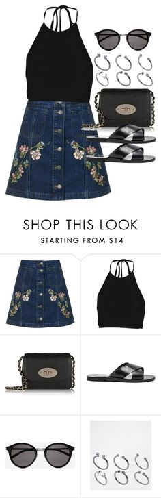 """Style #10815"" by vany-alvarado ❤ liked on Polyvore featuring Topshop, Boohoo, Mulberry, Steve Madden, Yves Saint Laurent and ASOS"