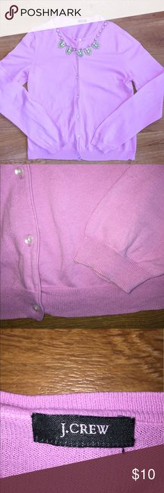 """Pink Cardigan Pink cardigan by J. Crew. Button up front, an extra button is sown inside. Length: 22"""" Pit to pit: 18"""" J. Crew Sweaters Cardigans"""