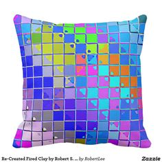 Re-Created Fired Clay by Robert S. Lee Pillow #Robert #S. #Lee #pillow #art #artist #graphic #design #colors #kids #children #girls #boys #style #throw #cover #for #her #him #gift #want #need #abstract #home #office #den #family #room #bedroom #living #customizable