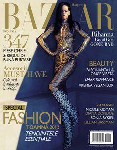 Rihanna on Harper's Bazaar Romania September/October 2012