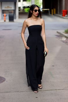 I would love to have a reason to wear this jumpsuit!  Cool look and POCKETS! Halston Heritage Celine Jumpsuit | @RentTheRunway #RTR