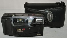 Yashica T3 Compact 35mm Camera with Carl Zeiss T* Tessar F/2.8/35 Lens & Case