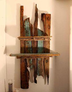 Driftwood Shelves,Large Drift Wood wall sculpture,Driftwood Art UK,130cm x 72cm £149.00
