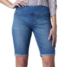 Women's Lee Sculpting Pull-On Bermuda Shorts, Size: 14 Avg/Reg, Dark Blue Lee, Weekend Wear, Capri Jeans, Jeans Fit, Medium, Slim Fit, Things That Bounce, Sculpting, Bermuda Shorts