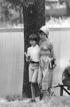 Signora Audrey Hepburn Dotti photographed with her son Sean H. Ferrer in Rome (Italy), in July 1970.