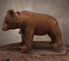 old bear on wheels...