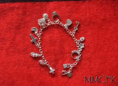 Silver 13 Charm Bracelet Buffy the Vampire Slayer Charm Bracelet Celebrity Jewelry Lucky Charm - Sterling Silver Gift for Her