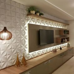 Meuble Tv Angle, Living Room Tv Unit, Living Room Decor, Living Room Designs, Be… Tv Cabinet Design, Tv Wall Design, Front Wall Design, Design Case, Modern Tv Wall Units, Living Room Tv Unit Designs, Tv Unit For Living Room, Tv Wall Unit Designs, New Living Room