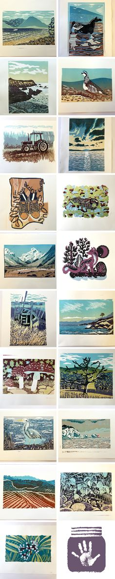 Reduction Linocut Workshop with Ian Phillips