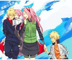 Naruto x Sakura | NaruSaku | Heaven & Earth | Orange / Yellow & Pink / Red | anti naruhina