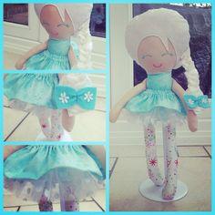 Handmade Frozen snow sister Elsa Inspired Doll with white Tutu skirt