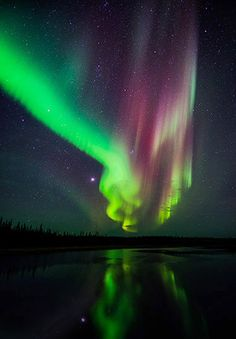Red and Green Aurora-photo by Grant Collier