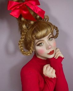 christmas costumes cindy lou CINDY LOU WHO twiggybraindead Whoville Costumes, Whoville Hair, Seussical Costumes, Who From Whoville Costume, Grinch Halloween, Grinch Christmas Party, Christmas Hair, Holiday Hair, Christmas Ideas