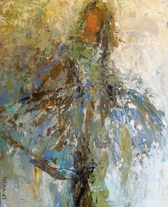 "The Lavender Dress, 20x16"", Acrylic & Mixed Media, Holly Irwin, artist"
