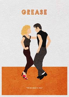 Grease 1978 Stretched Canvas Wall Art Movie Poster Print John Travolta Film 70s
