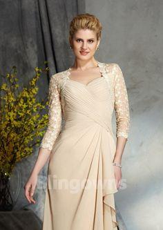308b790f88a084 Sweetheart Zipper Sleeveless A-line Floor Length Chiffon Jacket Mother Of  The Bride Dresses Mother