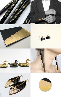 When you want it to be WOW by keren zarka on Etsy » Time to get fancy with this black and gold collection!