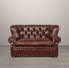 Churchill Leather Sofa with Nailheads Genuine Leather Sofa, Chesterfield Chair, My Dream Home, Seat Cushions, Home Furnishings, Luxury Homes, Accent Chairs, Churchill, Interior Design