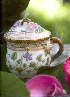 In 220 years of production, no individual piece of Flora Danica has ever been replicated. Today, it remains the most expensive and celebrated china pattern in the world. [The Collected Tabletop by Kathryn Crisp Greeley]