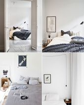 Friday Favorites: Bedroom Inspiration | Happy Grey Lucky Room, Home, Scandinavian Bedroom, Room Inspiration, Home Deco, Bedroom, Bedroom Inspiration White, Dream Rooms, New Room