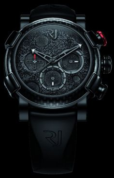 Romain Jerome Moon Dust DNA Black & Steel Mood Chronograph Watches.  Sexy and expensive! 2 of my favorite things