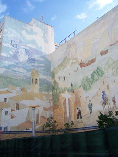 Moors and Christians mural, Calpe - been