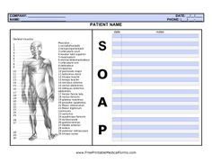 Free Massage Soap Forms  Resources  Downloads  Massage