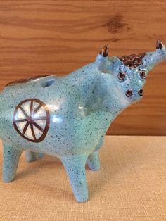 A personal favorite from my Etsy shop https://www.etsy.com/listing/259391772/alfaraz-ceramica-bull-art-pottery-made