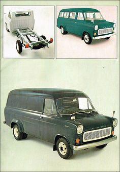 Ford Pickup body, Crewbus and van: 1971 Vintage Vans, Vintage Trucks, Ford Classic Cars, Classic Trucks, Ford Transit, Big Trucks, Ford Trucks, Vans 106, Ford Zephyr
