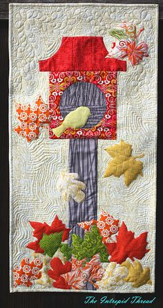 birdhouse quilt - my sis should totally do this for her grandbaby's room  : )