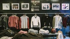 The Todd Snyder + Champion Store Is New York's Fanciest Gym Retail Stories, Champion Store, Ford Interior, Interior Design, Todd Snyder Champion, City Gym, The Todd, Vintage Sportswear, Boutique Decor
