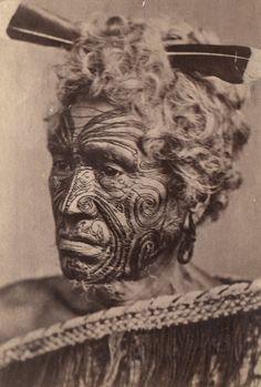 Maori au visage tatoué (Maori man with a tattoed face) Date1860-1889 SourcePhotothèque du Musée de l'Homme via French National Library URL [1] Reference No. Cote :1998-3171-139. Acq. : Museum national d'Histoire naturelle . - Collection Musée d'Ethnographie du Trocadero, Notice n° : FRBNF38438431 AuthorNon identifié/Unknown Permission (Reusing this file) Out of Copyright worldwide