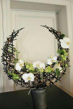 Contemporary Flower Arrangements, Creative Flower Arrangements, Orchid Arrangements, Artificial Flower Arrangements, Beautiful Flower Arrangements, Beautiful Flowers, Deco Floral, Arte Floral, Floral Design