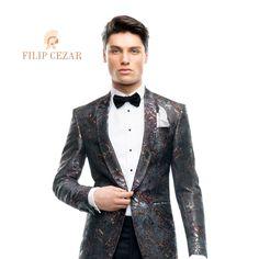 Vrei să ai un costum de mire unic, dar și să economisești bani?  Optează pentru sacourile de ceremonie Filip Cezar realizate manual, in stil tradițional. Unic, Nasa, Suit Jacket, Costumes, Suits, Jackets, Fashion, Outfit, Down Jackets