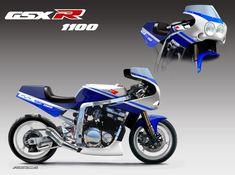 Suzuki Bikes, Suzuki Cafe Racer, Suzuki Motorcycle, Cafe Racer Motorcycle, Suzuki Gsx, Cafe Racers, Concept Motorcycles, Custom Motorcycles, Yamaha Fzr 600