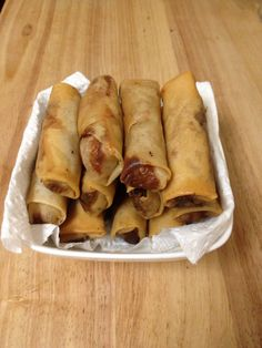 Vietnamese fried egg rolls - pork, carrots, jicama, taro, bean thread