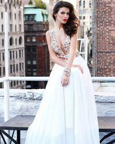 osell wholesale dropship A Line Sleeveless V Neck Chiffon Beading Floor Length Evening Prom Dress $88.56