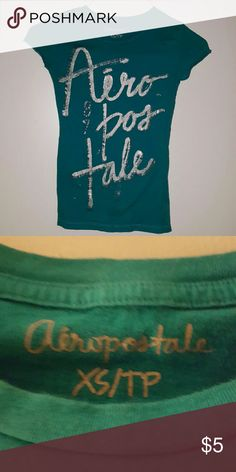 Cute Tee Turquoise short sleeve cotton top.  Good condition. Aeropostale Tops Tees - Short Sleeve