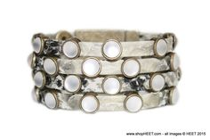 Rockstar Antique Gold Frosted Pearl Exotic in Eel - $250 2015 Frosted Collection
